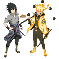 Naruto Shippuden We're gonna take you down! (PNG) by iEnniDESIGN