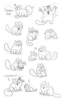 Simon's Cat Doodles by Mirka-Dragon