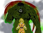 Hulk Vs Songoku by Electric-Dreamz