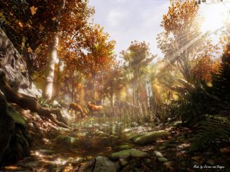 3D Autumn forest (Unreal Engine 4) by gothica6664321