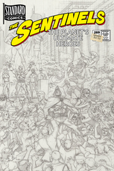 Sentinels 269 Black Sun - Cover Pencils by roygbiv666