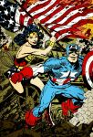 Captain America and Wonder Woman (coloring) by Jasontodd1fan