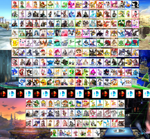 Super Smash Bros. Fan Roster by KanshinX3