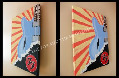 Dave Grohl Foo Fighters Original painting by TheJinMu