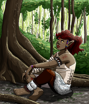Shura in forest by GlassMouse89
