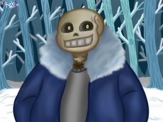 Sans (My first painting) by LiLDipArtsy