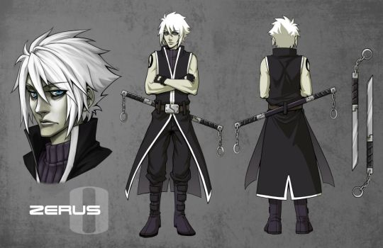 SIN Character sheet: Zerus by Quirkilicious
