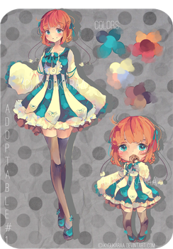 Blue Cotton (Adoptable Auction CLOSED) by KyouKaraa
