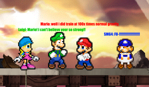 Mario Parody: At 100X gravity. by DrizzlyScroll1996