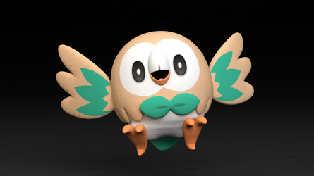 #722. Rowlet by TheAdorableOshawott