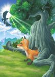 The Fox and The Eagle illus. by kuyakoyboy