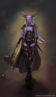 Night elf druid by x-Celebril-x
