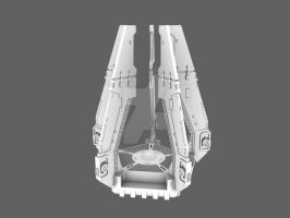 Drop pod with fins WIP by 3DPad