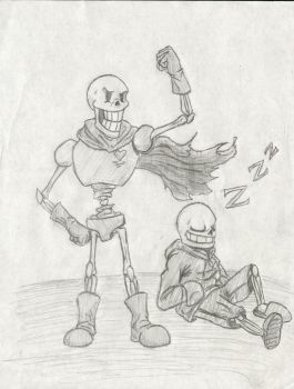 Undertale Skelebros Fan Art by Taqresu650