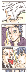 Sherlock Comic - Forehead by kk130
