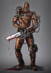 Puppet Chainsaw Character Concept by misi006