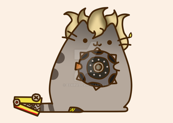 Pusheen Junkrat by Eckru