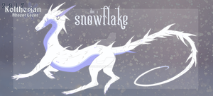 Koltherian Advent: Dec 01 - Snowflake by C0ZR10N