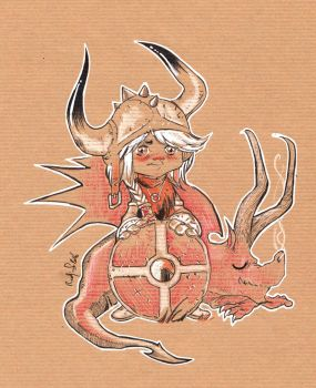Little Viking and his Dragon by radja01