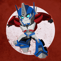 Chibi Optimus Prime by NightLokison