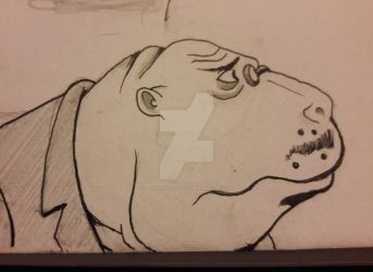Dr. Dugong The Venture Bros Inktober Day 29 by DoctorFantastic
