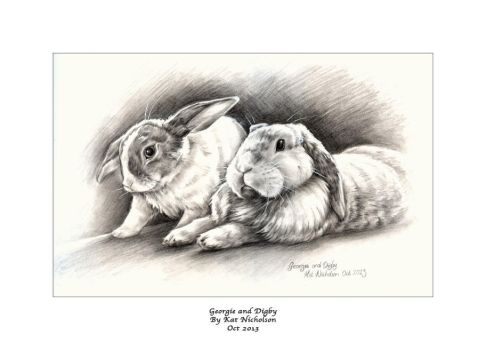 My Bunnies - Georgie  and Digby by KatCardy