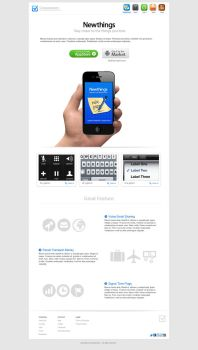 white Newthings apps collection by iconnice