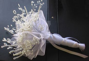 beaded wedding bouquet 2 by Craftcove
