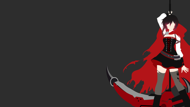 Ruby Rose Volume 5 Minimalist - Cropped [RWBY] by sonofaskywalker