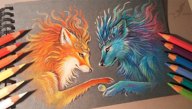 Ice and fire by AlviaAlcedo