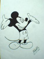 Mickey Mouse BandW by racer97413