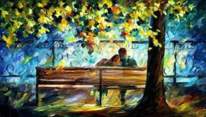 Lovers 2 by Leonid Afremov by Leonidafremov