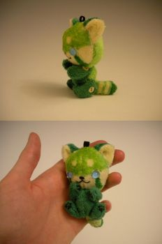 Keychain Green Red Panda by WhittyKitty