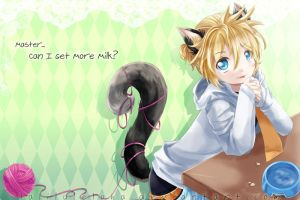 If you as MY PET (?)~~ First Vocaloid Fannart by laliluleloha