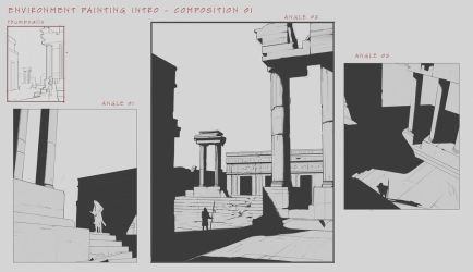 Environment Design Composition Studies by FranklinChan