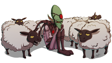 Mindless sheep by BlueStripedRenulian