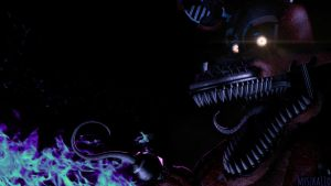 Nightmare Foxy (Animation in the desc.) by myszka11o