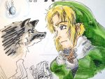 Link and wolf Link sketch by evangeline40003