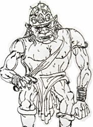Tolkien Orc by russellchap