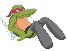 Raph and stockings by Neos-mies