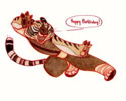 Tigress Birthday Card by CheiftainMaelgwyn