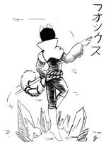 Inktober: There is Grace in Swordmanship and Ice by HayaoTezuka