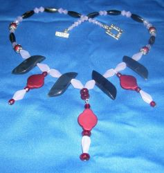 Rubies and Rubber, a different kind of necklace by DAnnsCreations