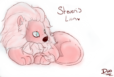 pink fluffy  lion!! by Danceswithowl
