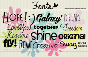 Fonts BHR by iBeHappyRawr