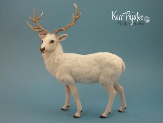 Miniature 1:12 scale White Stag by Pajutee