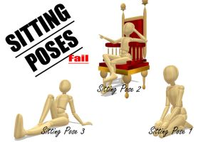 MMD Sitting Poses... Fail by Blackanimecat21