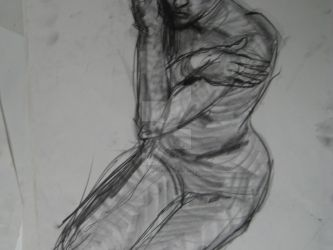 Sketch : Nude model 15 by AlexanderPeev