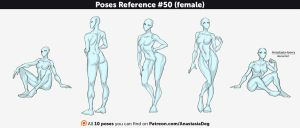 Poses Reference #50 (female) by Anastasia-berry