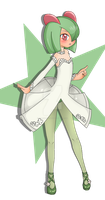 Kirlia, Full Body Color Commission Example